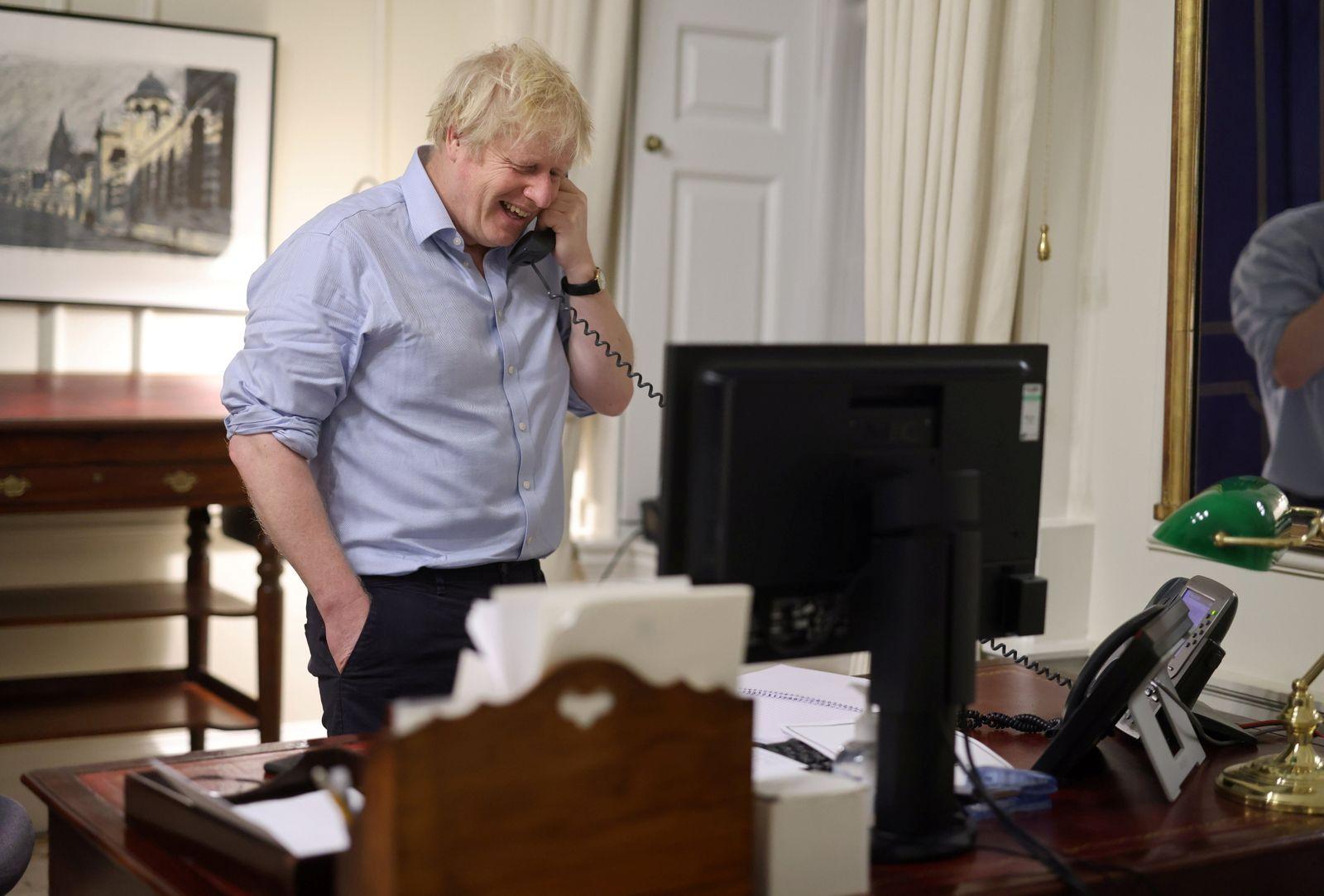 British PM Johnson speaks to U.S. President Biden from London