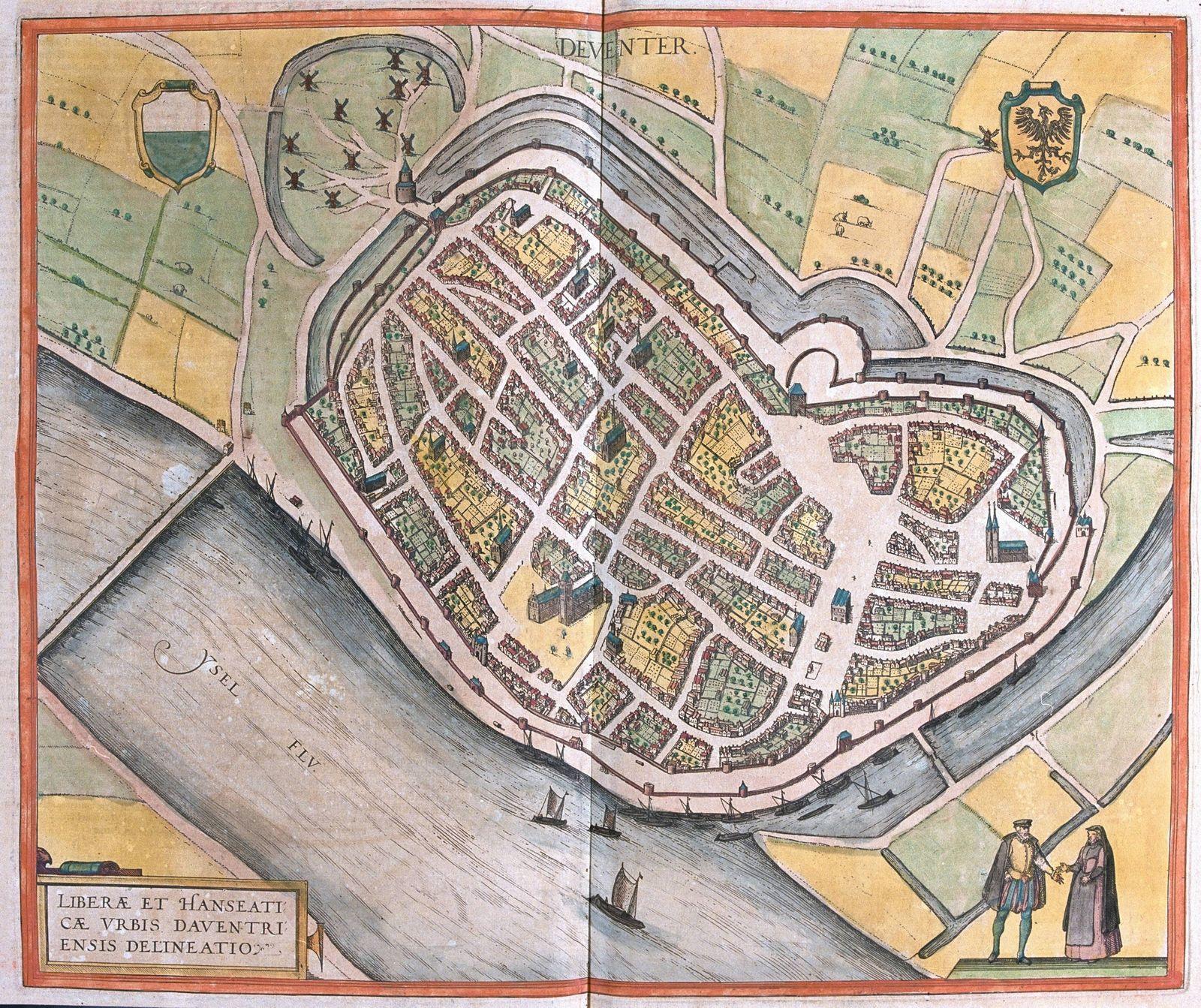 Liberae et Hanseaticae urbis Daventri ensis Delineatio Deventer Netherlands Civitates Orbis Ter