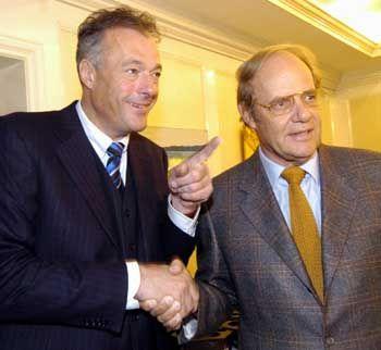 Hausverbot bei Hunzinger: Bolko Hoffmann (r.) mit dem Ex-Innensenator