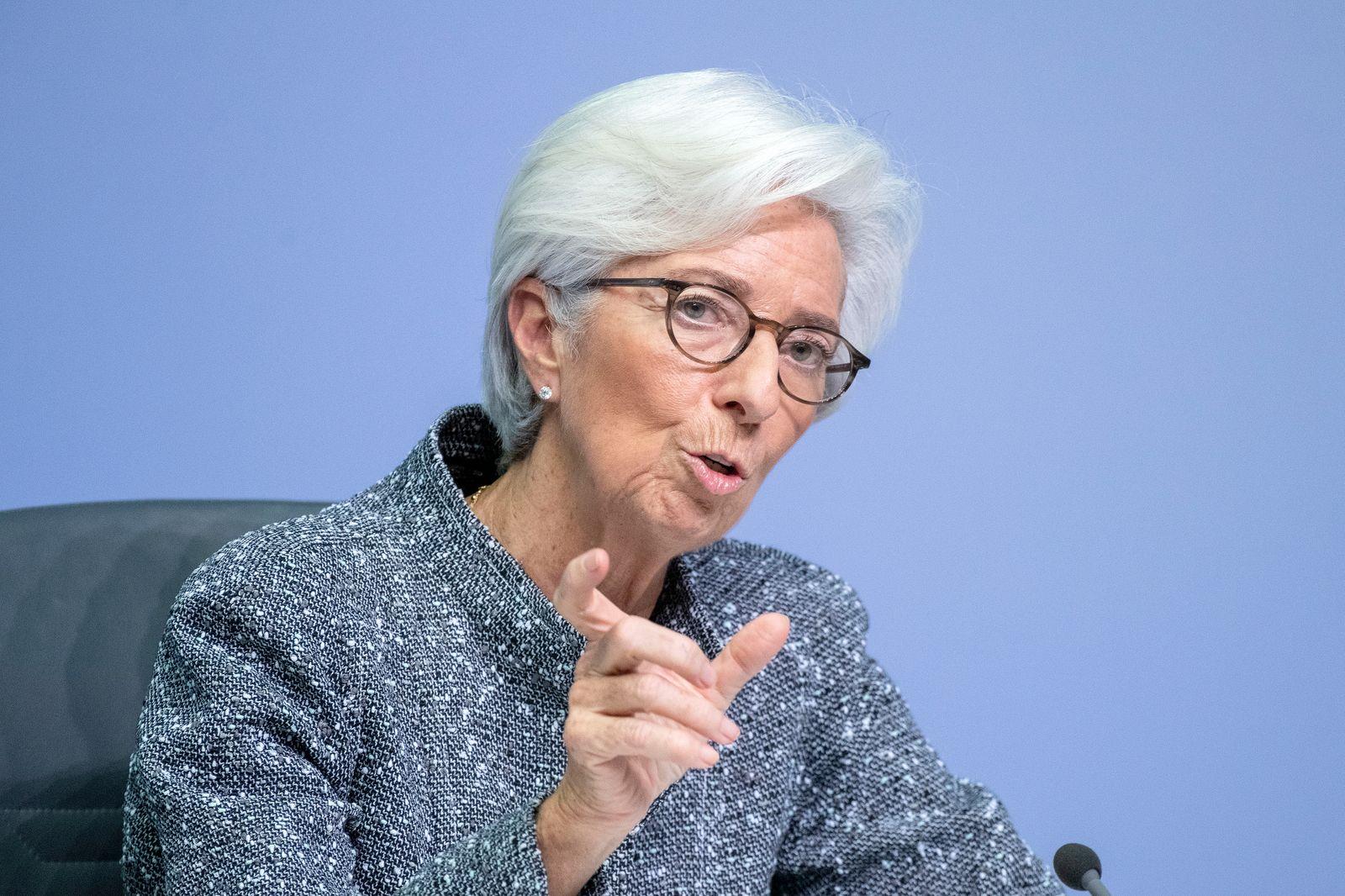 Christine Lagarde Speaks Following ECB Meeting As Coronavirus Spreads