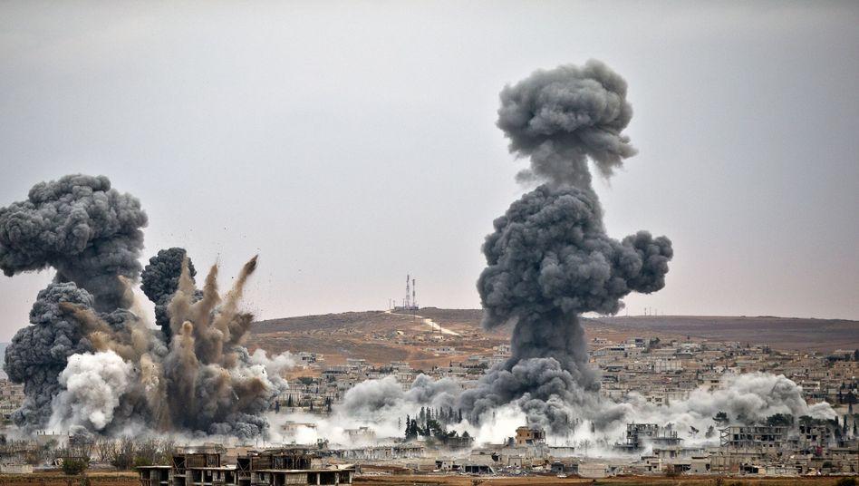 US-Luftschläge auf IS-Stellungen in Kobane: Die Strategie ist unklar