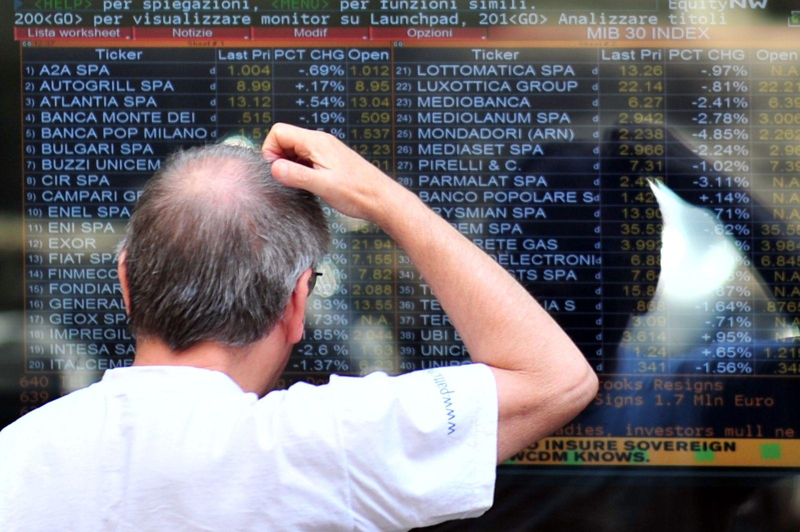 ITALY-EU-EUROZONE-FINANCE-STOCK EXCHANGE