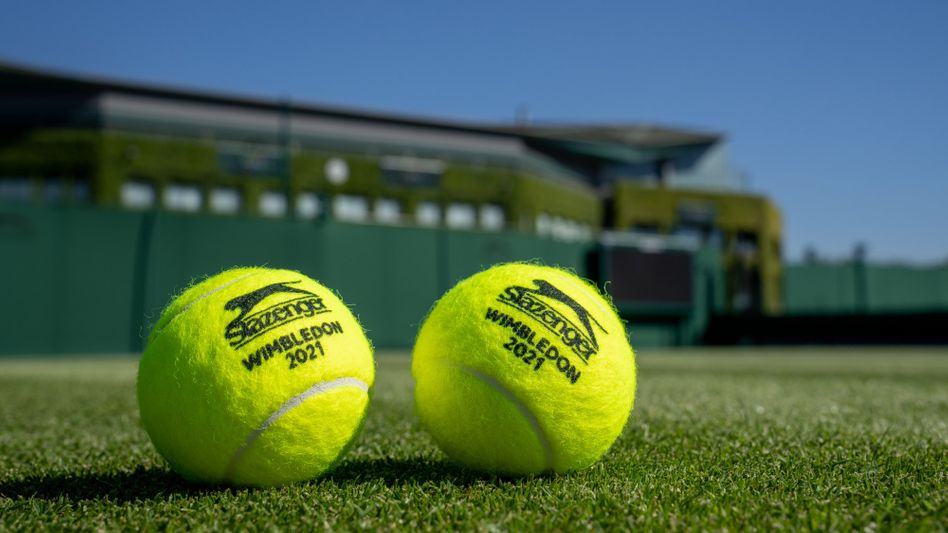 Tennisbälle in Wimbledon 2021