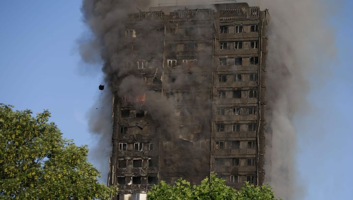 London: Inferno im Grenfell Tower