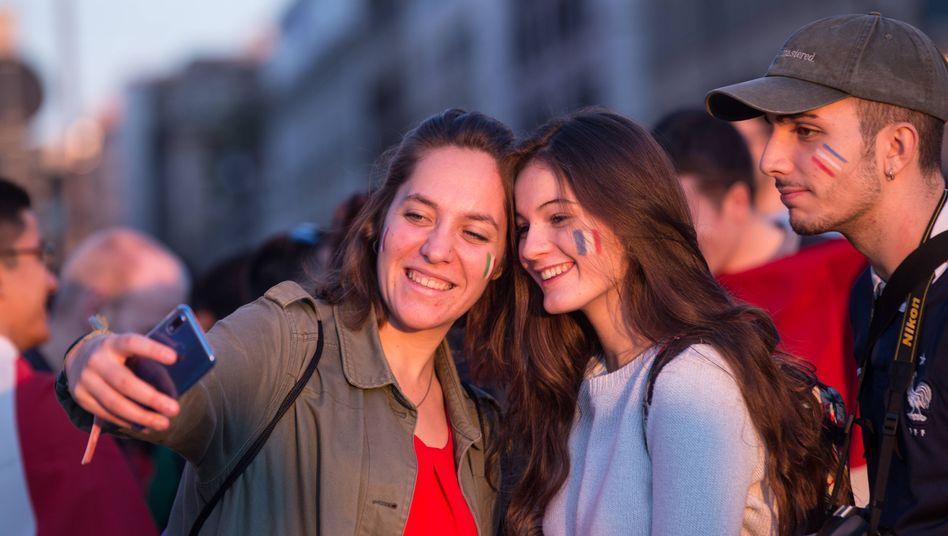 Erasmus-Studierende in Rom bei einem Treffen von Teilnehmern des Austauschprogramms (Archivbild)