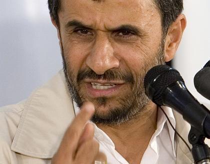Iranian President Mahmoud Ahmadinejad. The international community suspects Tehran aims to build nuclear weapons.