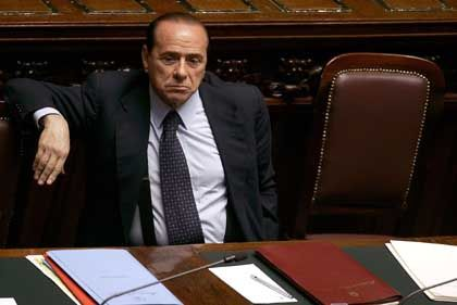 Italian Prime Minister Silvio Berlusconi's popularity is waning, but he still has some big backers.
