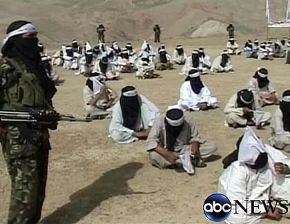 A Taliban training camp in the Afghanistan-Pakistan border region.