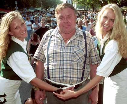 Southern Germans: Stupid, fat beer drinkers. And did those blondes come from Berlin?