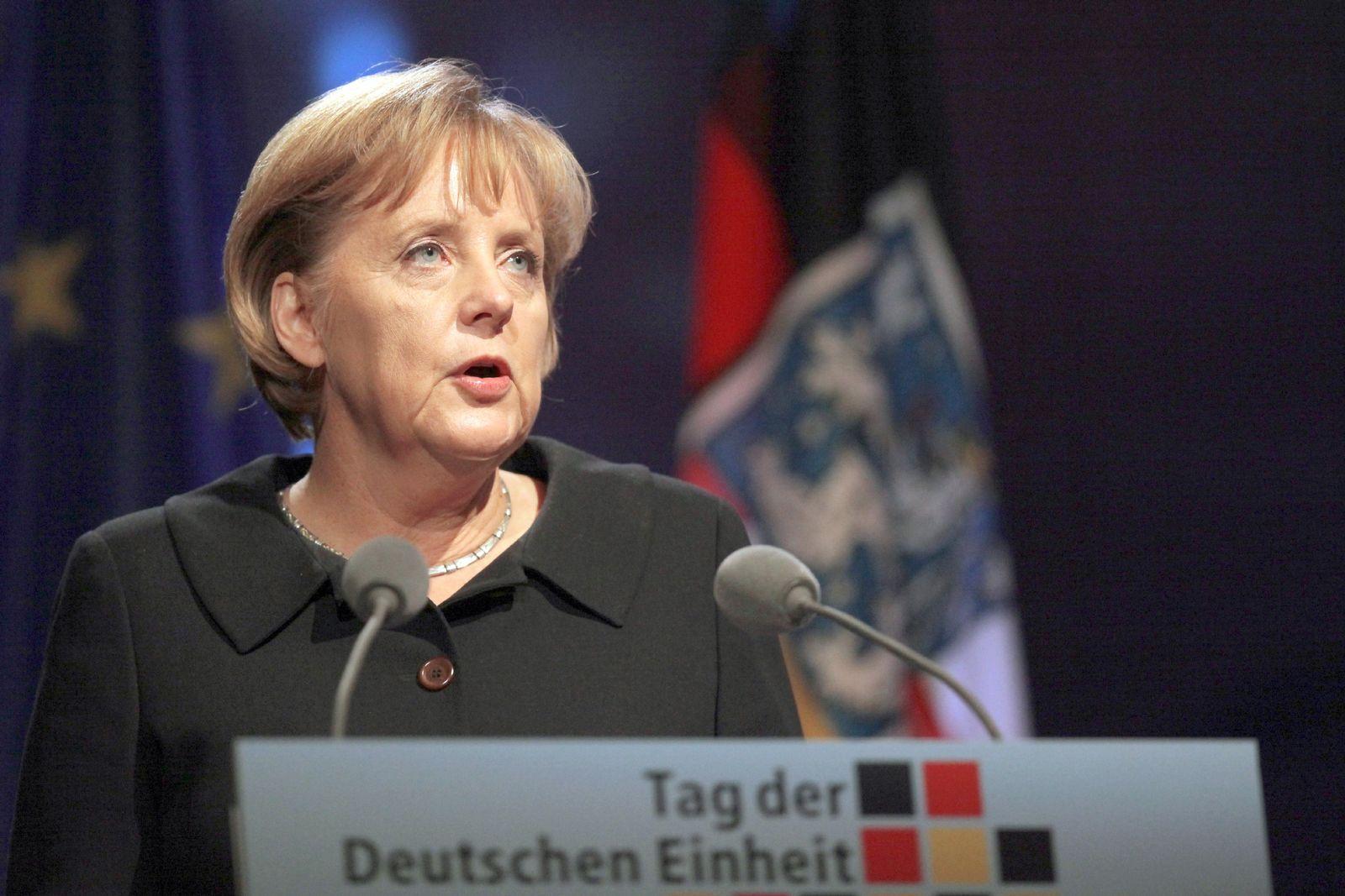 Angela Merkel ernst