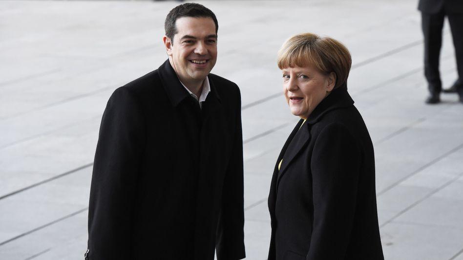 Alexis Tsipras und Angela Merkel in Berlin (Archiv): Gespräche mit Geldgebern gehen in die nächste Runde