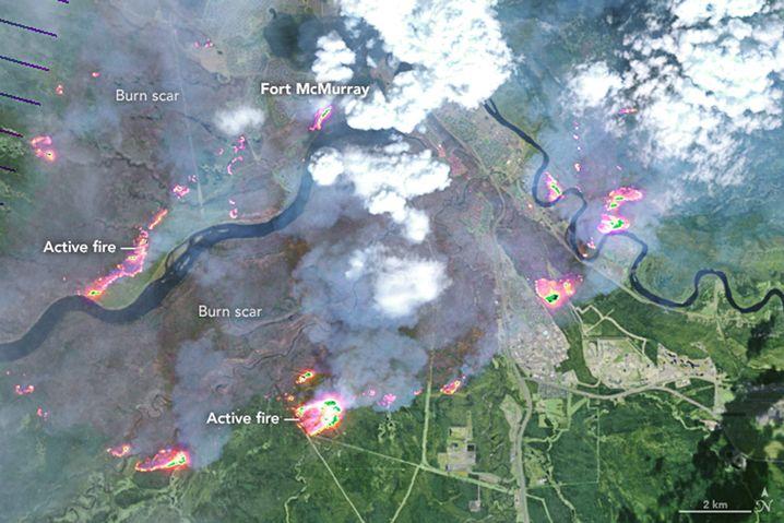 Katastrophenregion südlich von Fort McMurray