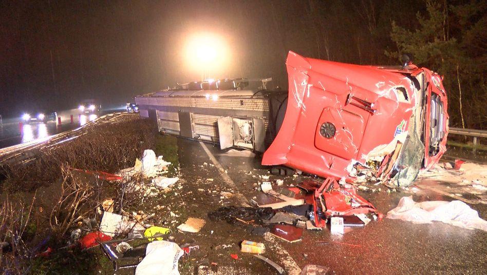 Unfallstelle auf der A27 bei Walsrode