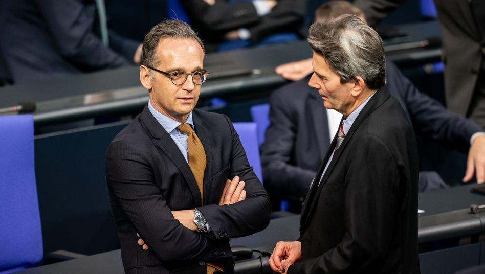 Außenminister Heiko Maas, SPD-Fraktionsvorsitzender Rolf Mützenich: Bei den entscheidenden Debatten nicht mehr mit am Tisch