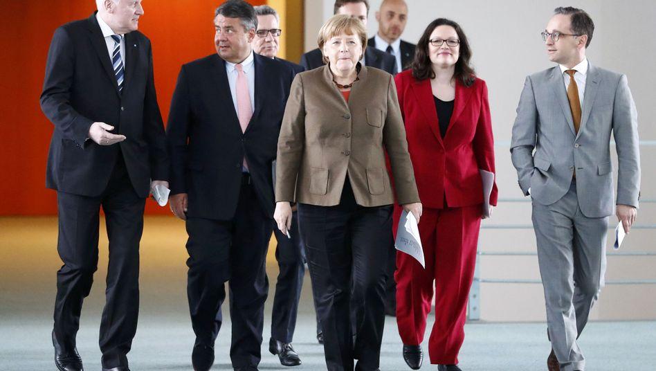 Spitzen von CDU, CSU und SPD