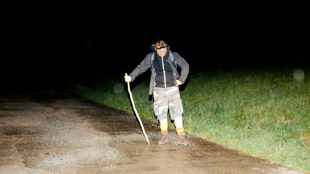 """Der Autor im Versuch, den """"Wanderer über dem Nebelberg"""" modern zu interpretieren."""