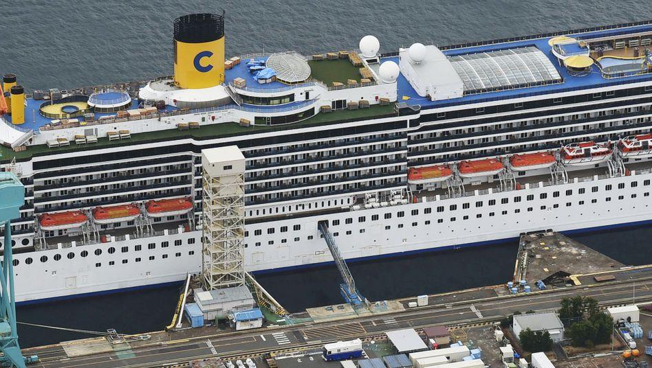 """""""Costa Atlantica"""": Das italienische Kreuzfahrtschiff hat in Japan angelegt"""