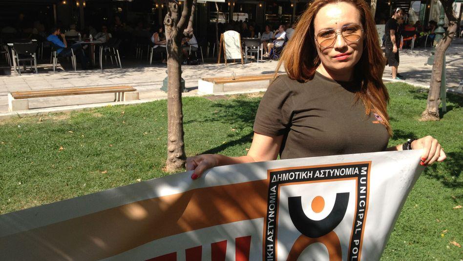 """Kommunalpolizistin Vasiliki Pagouni: """"Ich werde hierbleiben"""""""