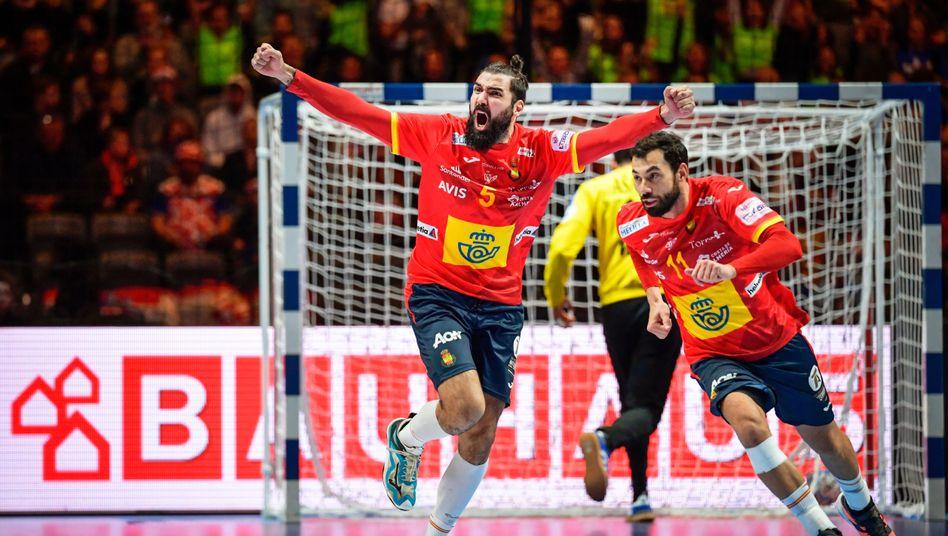 Jorge Maqueda holte auf dem Weg zum EM-Titel einen Drei-Tore-Rückstand innerhalb von 330 Sekunden allein mit seinen Treffern auf.