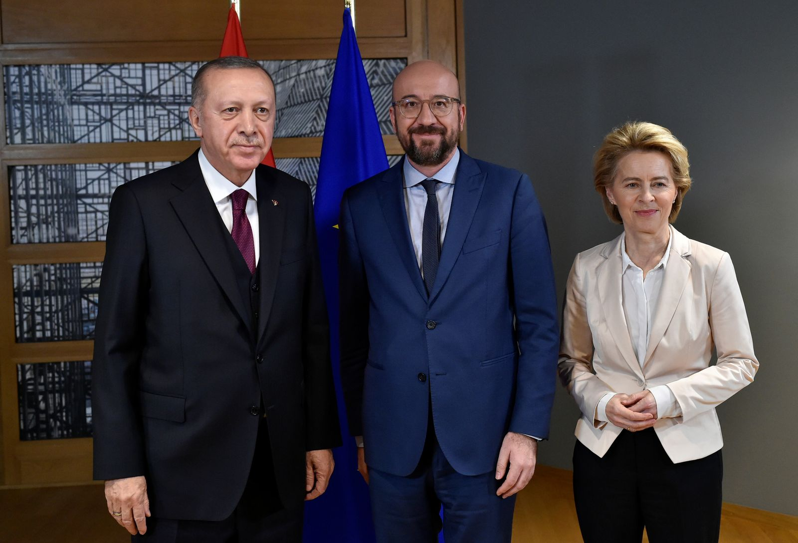 Turkish President Tayyip Erdogan in Brussels