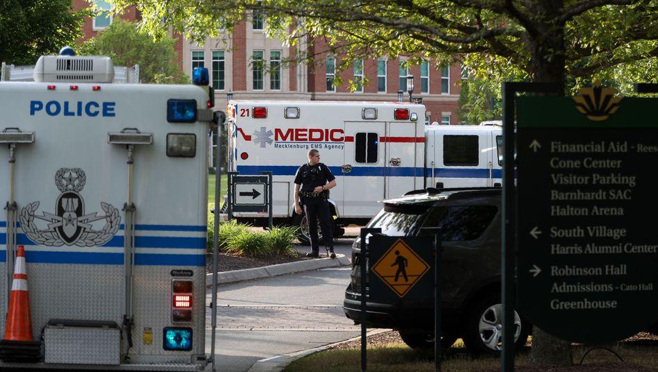 Tatort Campus: Die Polizei hat das Gelände der University of North Carolina in Charlotte abgeriegelt