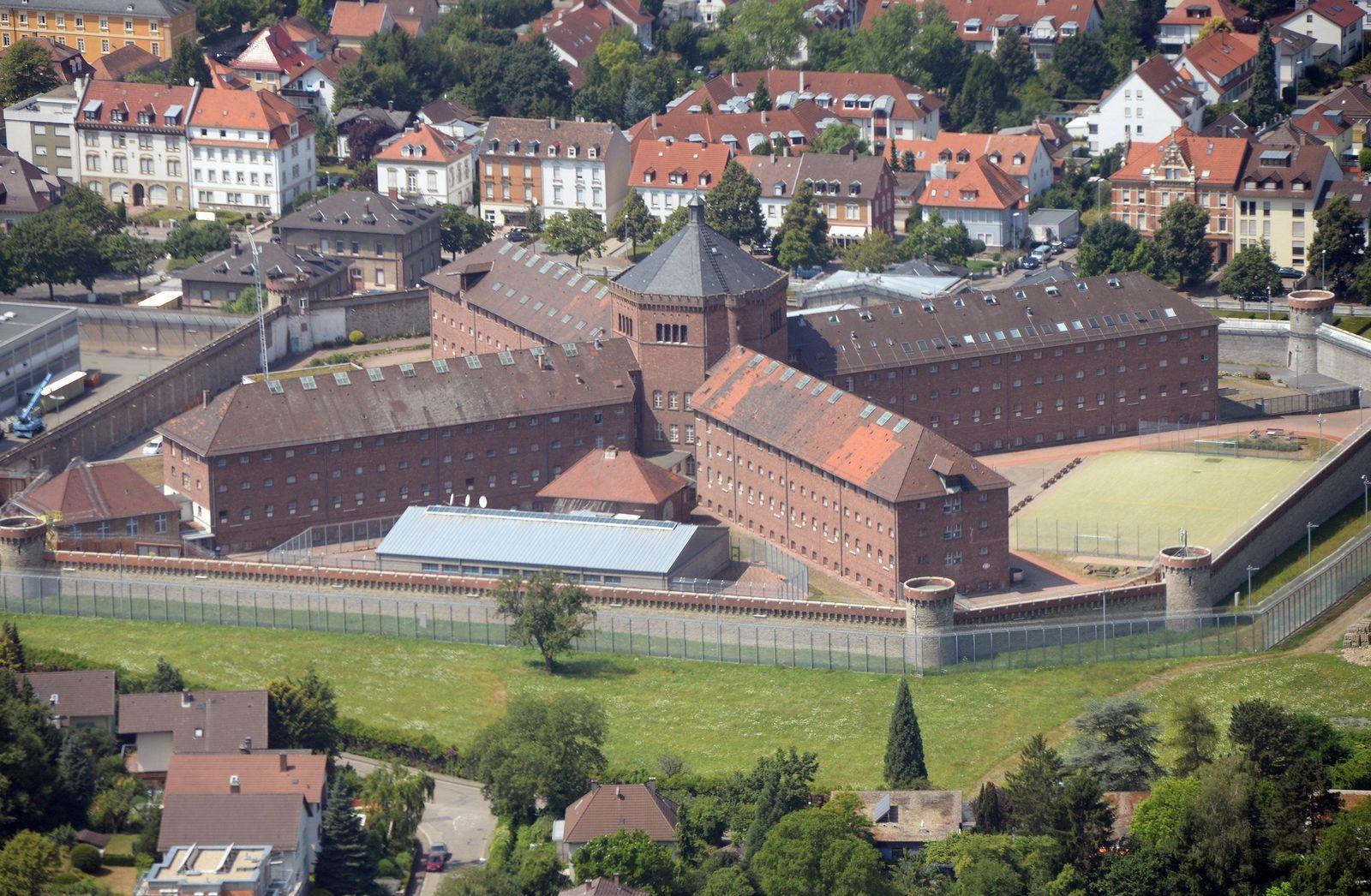 Luftbild Gefängnis Bruchsal
