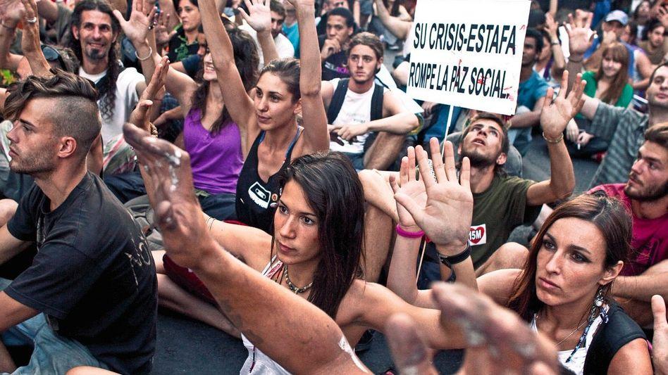 Jugendproteste gegen Sparmaßnahmen in Spanien: »Wie lang geht das noch weiter mit der Euro-Diktatur?«