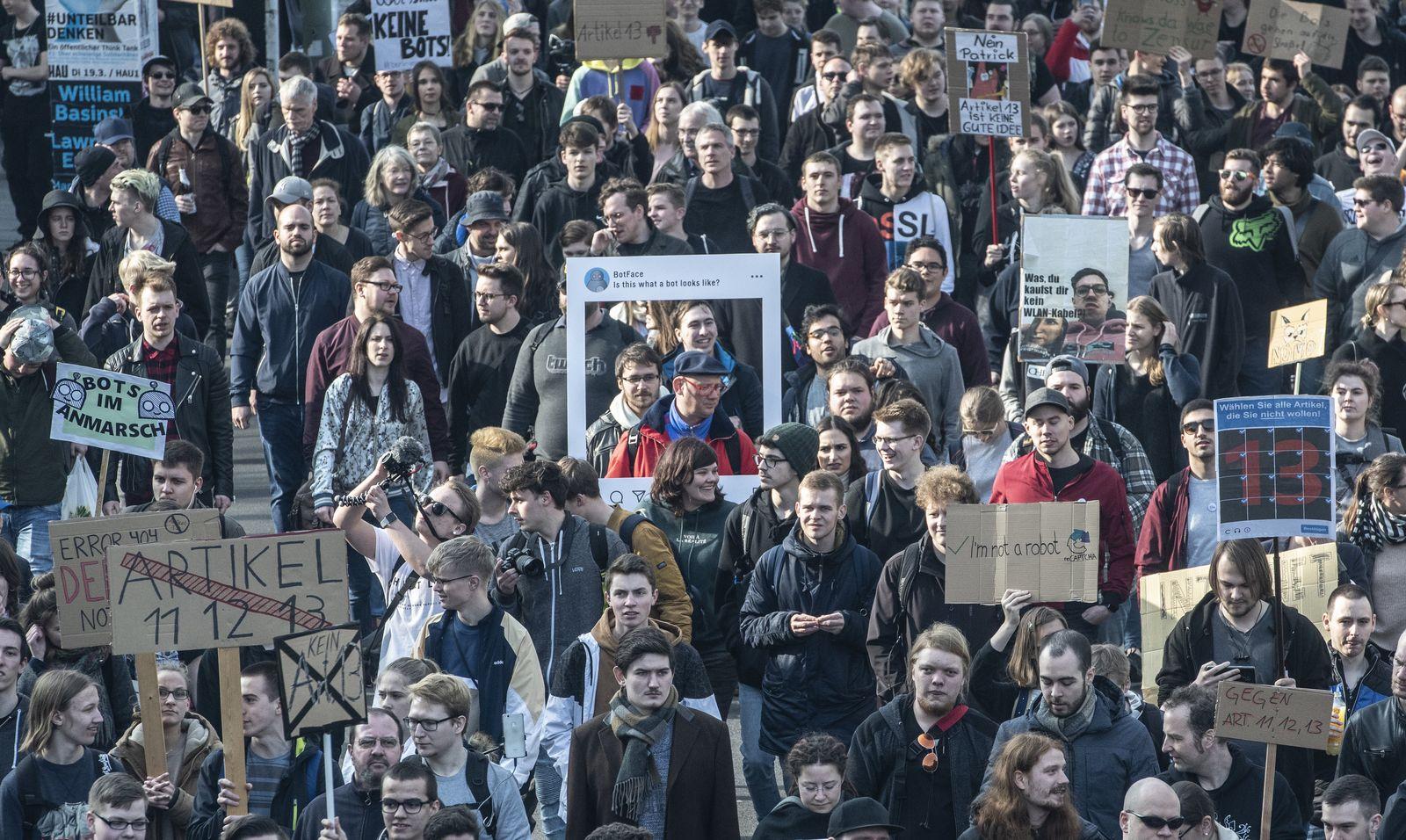 Protest gegen neues Urheberrecht/ Berlin