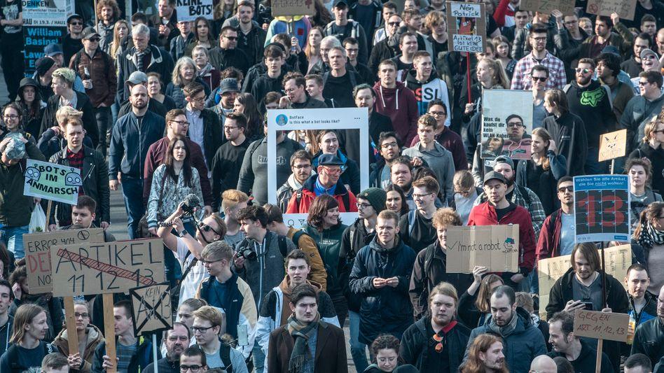 Demonstrationszug in Berlin