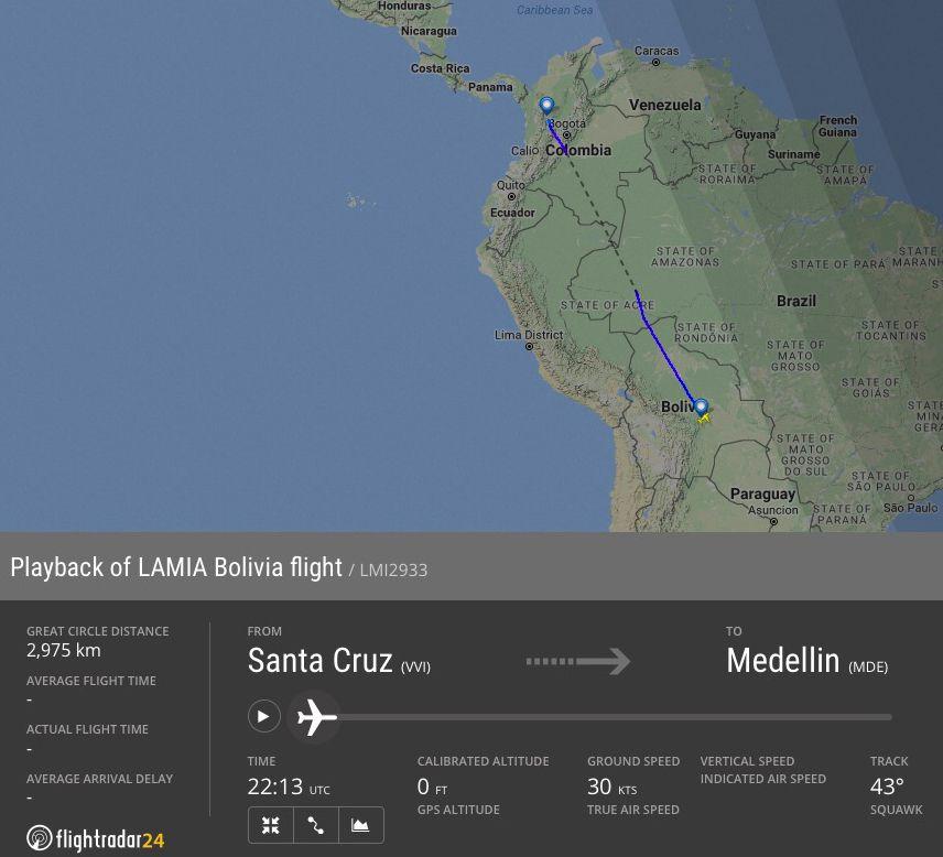 EINMALIGE VERWENDUNG SCREENSHOT Kolumbien/ Flugzeugabsturz