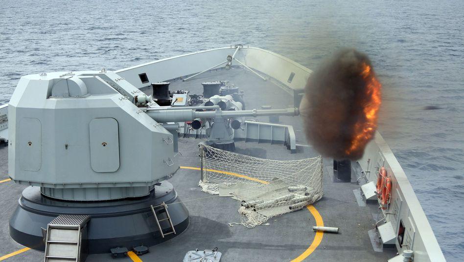 Chinesisches Kriegsschiff: Signal an die Gegner im Inseldisput