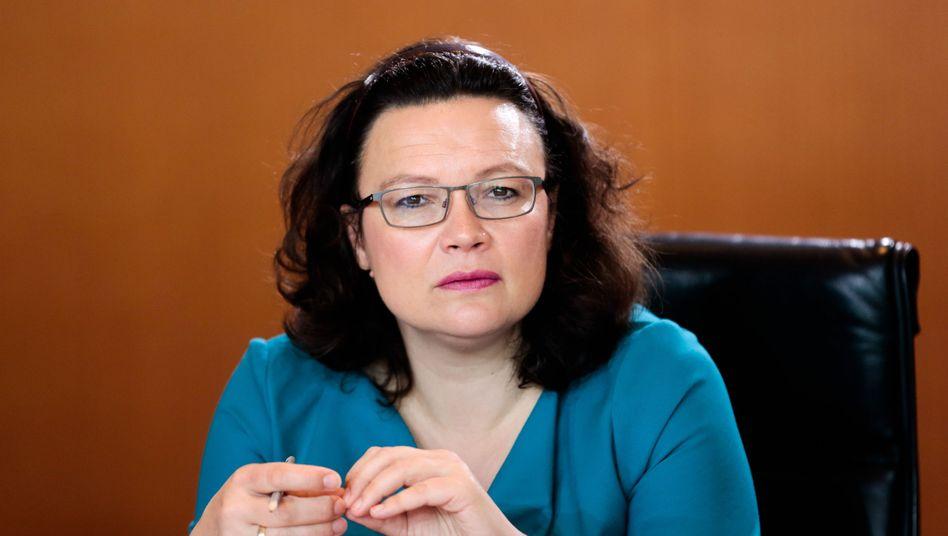 """Arbeitsministerin Nahles: """"Über das Ziel hinausgeschossen"""""""