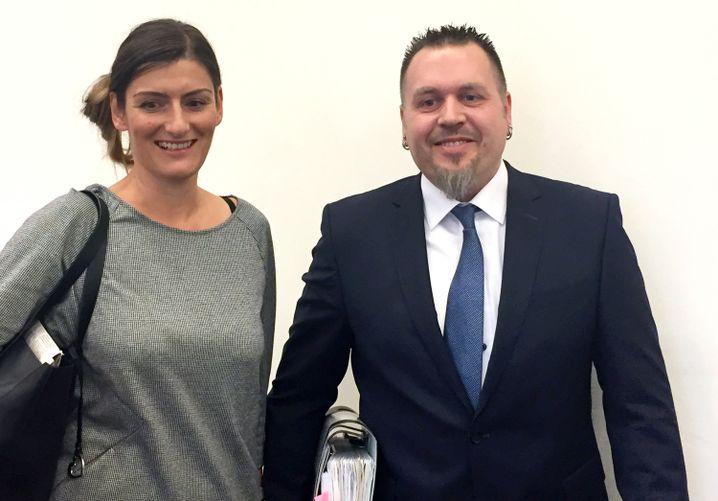 Polizeioberkommissar Jürgen Prichta und seine Frau Antje
