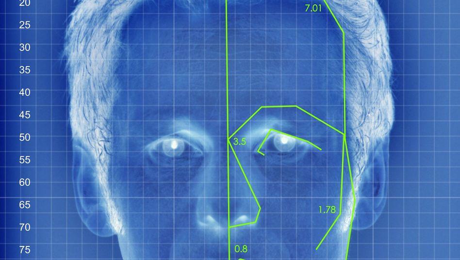 Gesichtserkennung (Symbolbild)