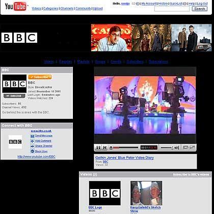 Seit langem auf allen digitalen Plattformen präsent: Die BBC (hier bei YouTube) wagt den Schritt zum IPTV