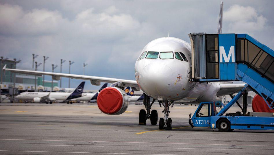 Lufthansa-Maschine in München: Die Airline will Corona-Tests für Passagier anbieten
