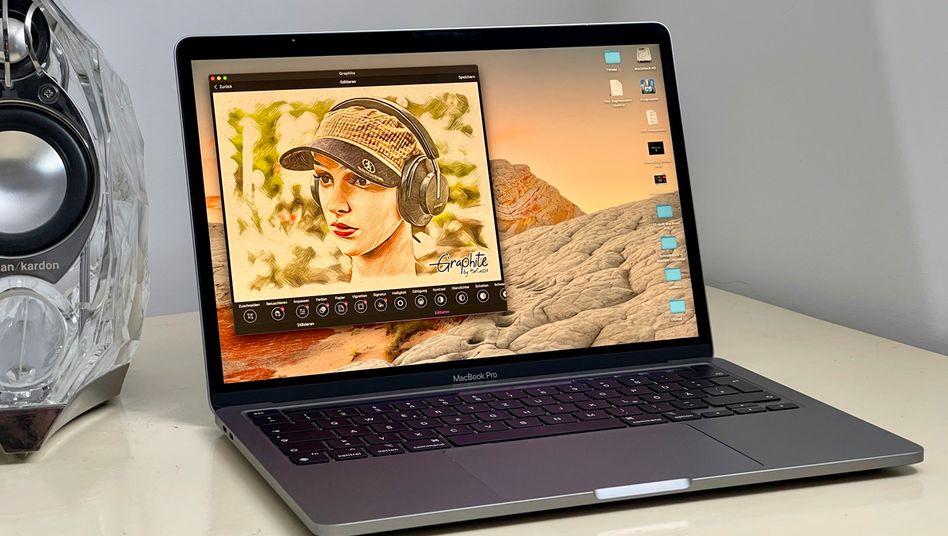 Die iPhone-App Graphite auf einem neuen MacBook Pro