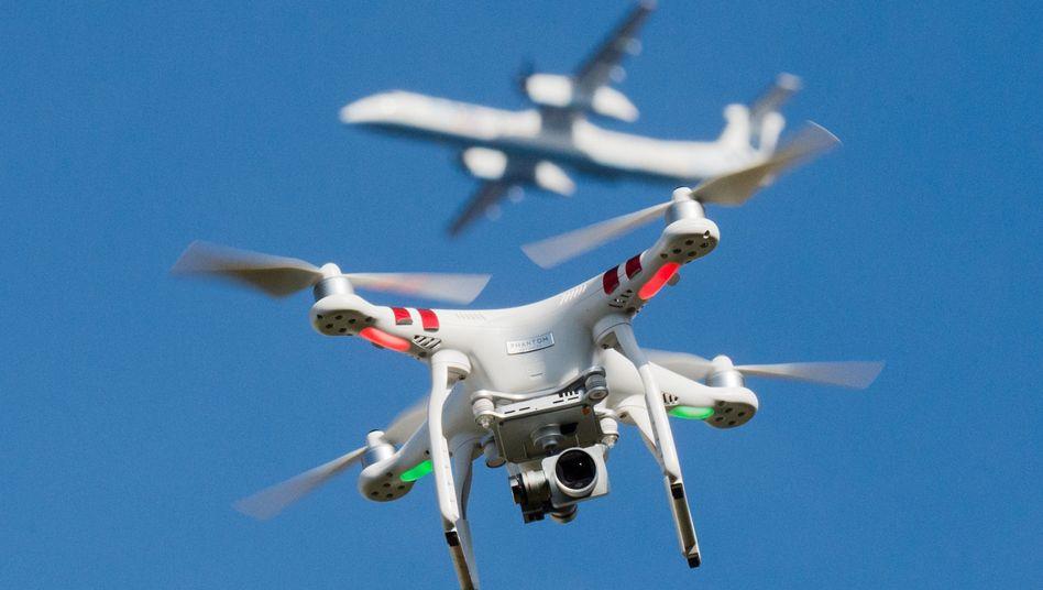 Im vergangenen Jahr wurden 158 Behinderungen des Luftverkehrs durch Drohnen gemeldet