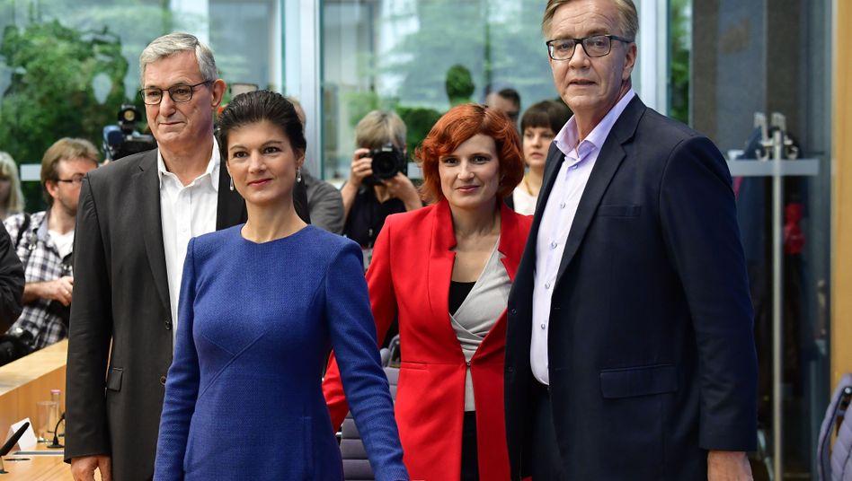 Sahra Wagenknecht führt die Fraktion, Katja Kipping die Partei