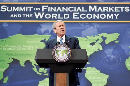 """Bush bei seiner Rede in Washington: """"Historisches Treffen"""""""