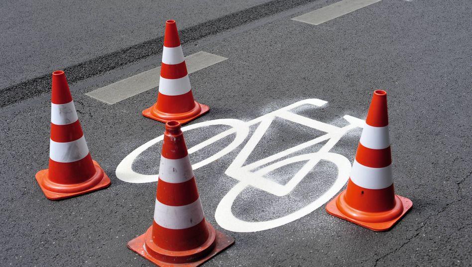Fahrradweg in Berlin-Neukölln