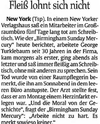 """Aus dem """"Tagesspiegel"""""""
