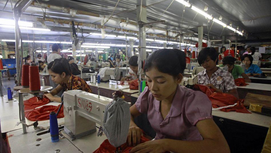 Textilfabrik in Burma