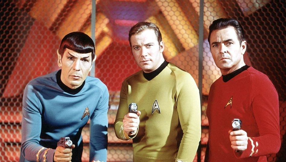 """""""Raumschiff Enterprise""""-Besatzung: Spock, Kirk und Scotty"""
