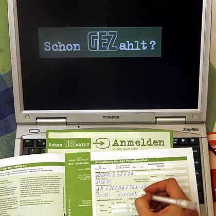 GEZ-Antrag am Bildschirm: ARD und ZDF dürfen jetzt auch für Rechner und Handys kassieren