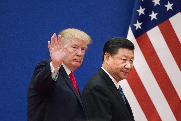 Trump mit Chinas Präsident Xi Jinping