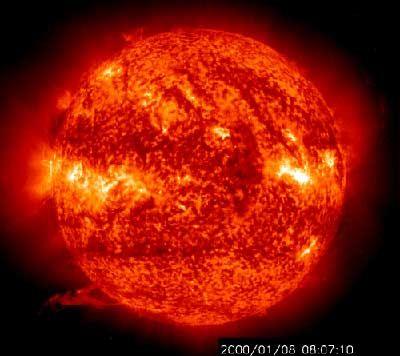 Sonnenflecken, die mit einem UV-Teleskop beobachtet wurden