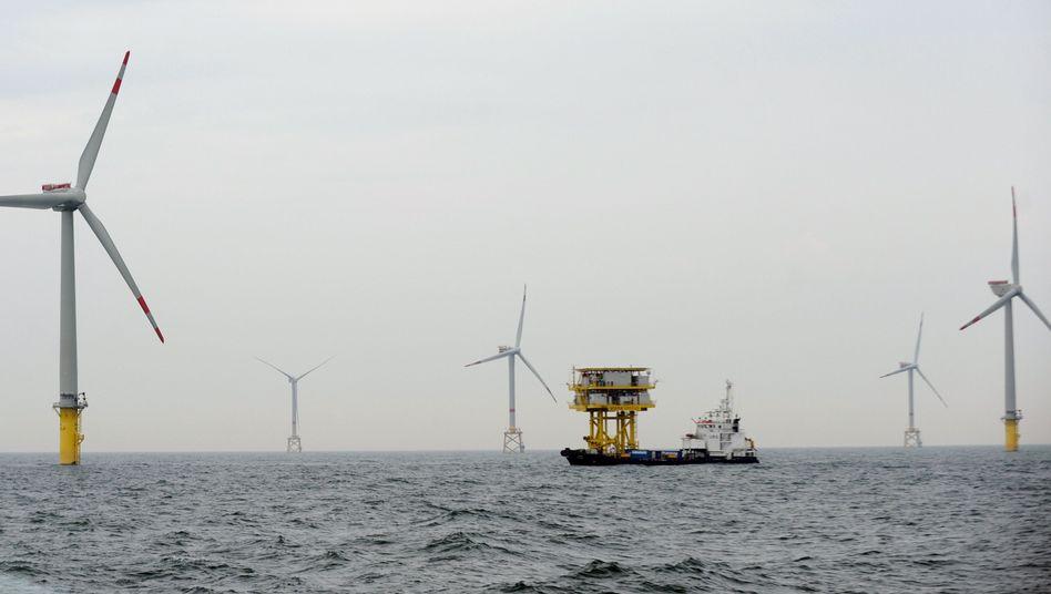 Offshore-Windpark Alpha Ventus: Auch eine geplante Anlage von E.on betroffen