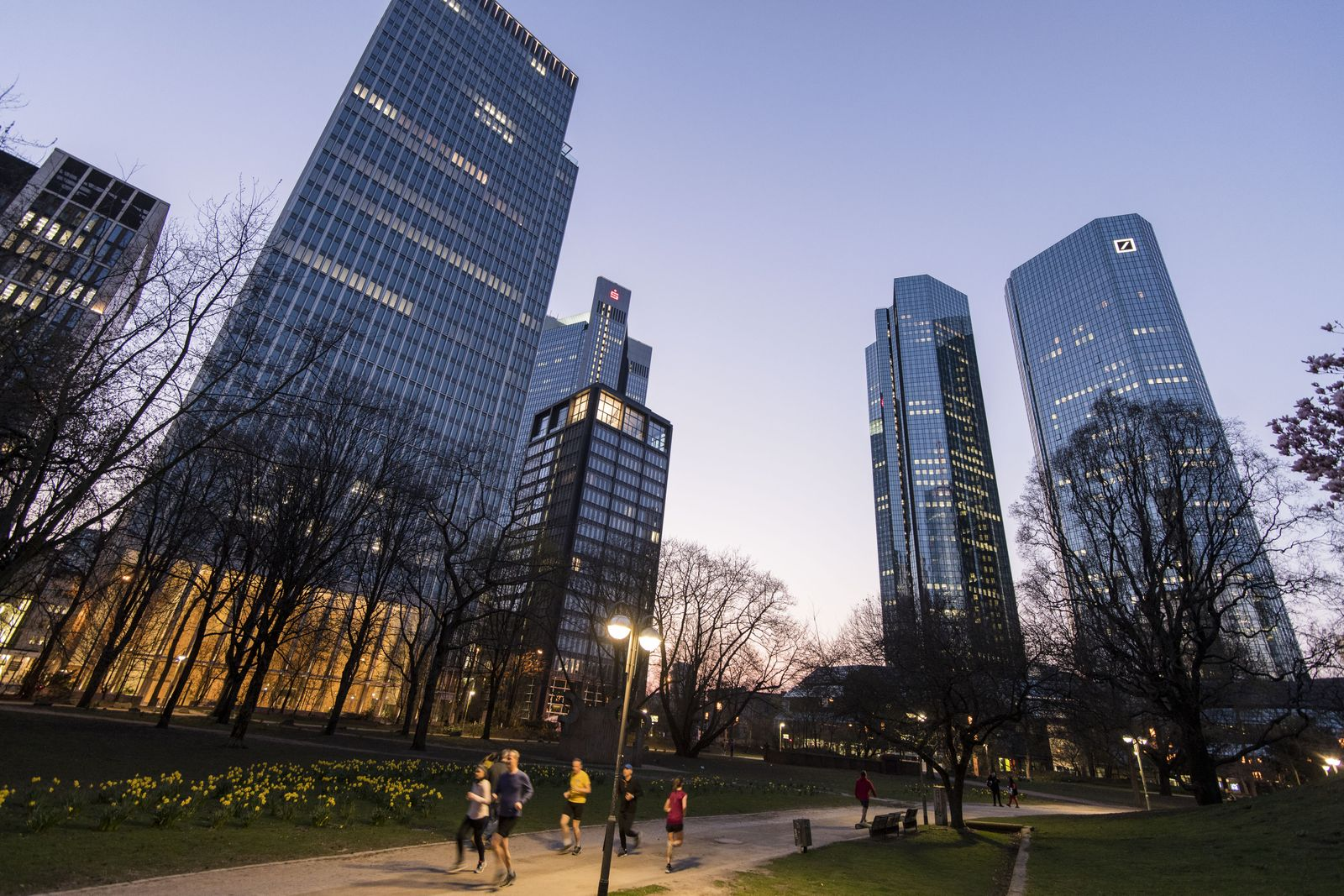 Frankfurt Finance District As Coronavirus Restrictions Go Into Effect