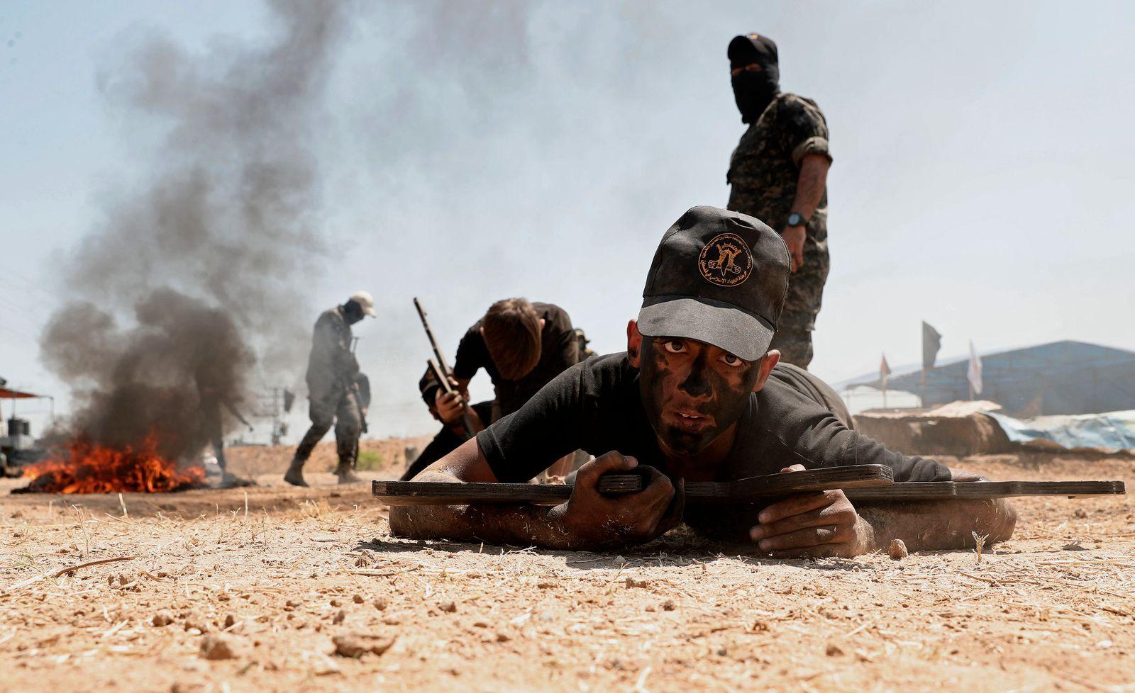 APTOPIX Palestinians Training